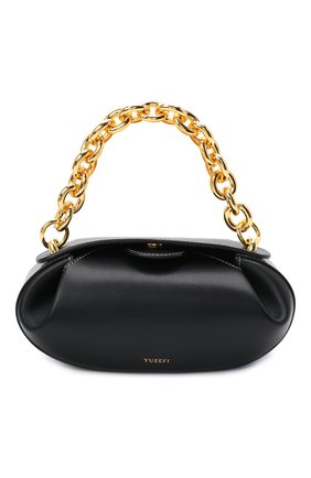 Женская сумка dinner roll YUZEFI черного цвета, арт. YUZIC0-HB-DR2-00   Фото 1