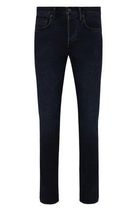 Мужские джинсы TOM FORD темно-синего цвета, арт. BYJ31/TFD002 | Фото 1 (Материал внешний: Хлопок; Длина (брюки, джинсы): Стандартные; Кросс-КТ: Деним; Силуэт М (брюки): Прямые; Стили: Кэжуэл)