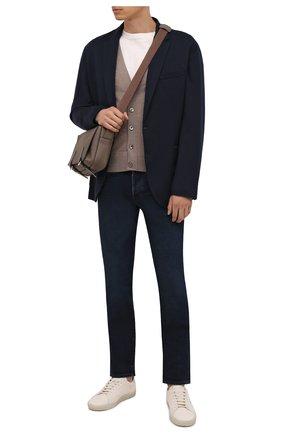 Мужские джинсы TOM FORD темно-синего цвета, арт. BYJ31/TFD002 | Фото 2 (Материал внешний: Хлопок; Длина (брюки, джинсы): Стандартные; Кросс-КТ: Деним; Силуэт М (брюки): Прямые; Стили: Кэжуэл)