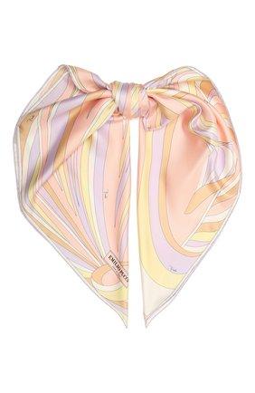 Женский шелковый платок EMILIO PUCCI светло-розового цвета, арт. 1RGB32/1RV32 | Фото 1