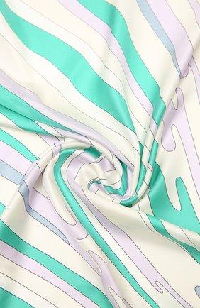 Женский шелковый платок EMILIO PUCCI зеленого цвета, арт. 1RGB32/1RV32 | Фото 2