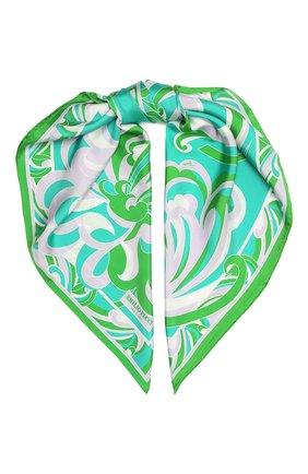 Женский шелковый платок EMILIO PUCCI зеленого цвета, арт. 1RGB58/1RA58 | Фото 1