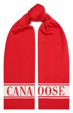 Детский шерстяной шарф CANADA GOOSE красного цвета, арт. 6955K   Фото 1
