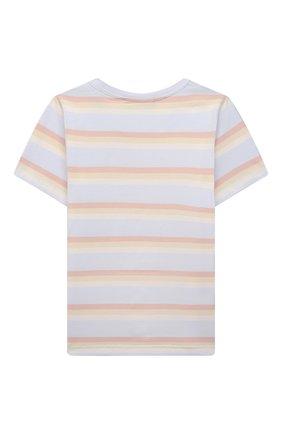 Детская хлопковая футболка ACNE STUDIOS голубого цвета, арт. DL0020 | Фото 2