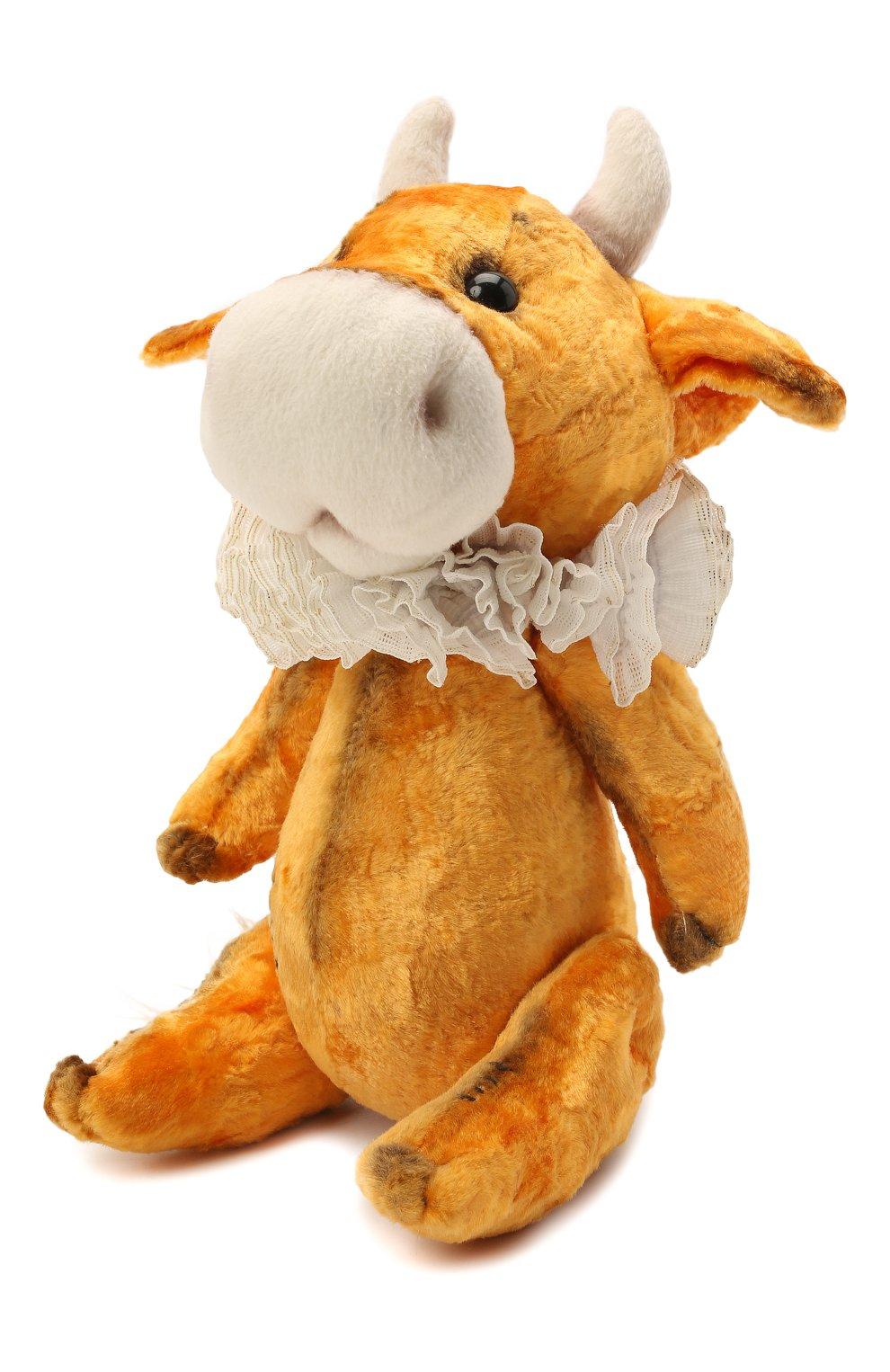 Детского игрушка бычок тедди CAROLON желтого цвета, арт. 2-01491   Фото 1