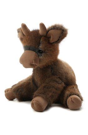 Игрушка бычок Тедди из меха ондатры | Фото №1