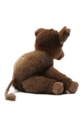 Игрушка бычок Тедди из меха ондатры | Фото №2