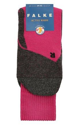 Детские утепленные носки active warm FALKE розового цвета, арт. 10450 | Фото 1 (Материал: Текстиль, Синтетический материал)