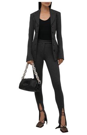Женские брюки из вискозы THE ATTICO серого цвета, арт. 213WCP42/V027 | Фото 2