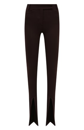 Женские брюки из вискозы THE ATTICO коричневого цвета, арт. 213WCP42/V027 | Фото 1