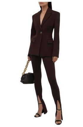 Женские брюки из вискозы THE ATTICO коричневого цвета, арт. 213WCP42/V027 | Фото 2