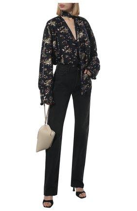 Женские джинсы THE ATTICO черного цвета, арт. 213WCP12/D020 | Фото 2