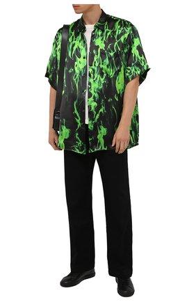 Мужская рубашка из вискозы VETEMENTS зеленого цвета, арт. UA52SH450G 2610/M | Фото 2