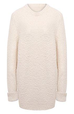 Женский хлопковый свитер MAISON MARGIELA кремвого цвета, арт. S51GP0225/S17664   Фото 1