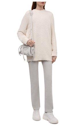 Женский хлопковый свитер MAISON MARGIELA кремвого цвета, арт. S51GP0225/S17664   Фото 2