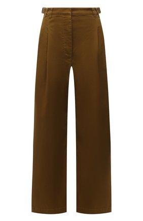 Женские хлопковые брюки PROENZA SCHOULER WHITE LABEL хаки цвета, арт. WL2136097-AC115 | Фото 1