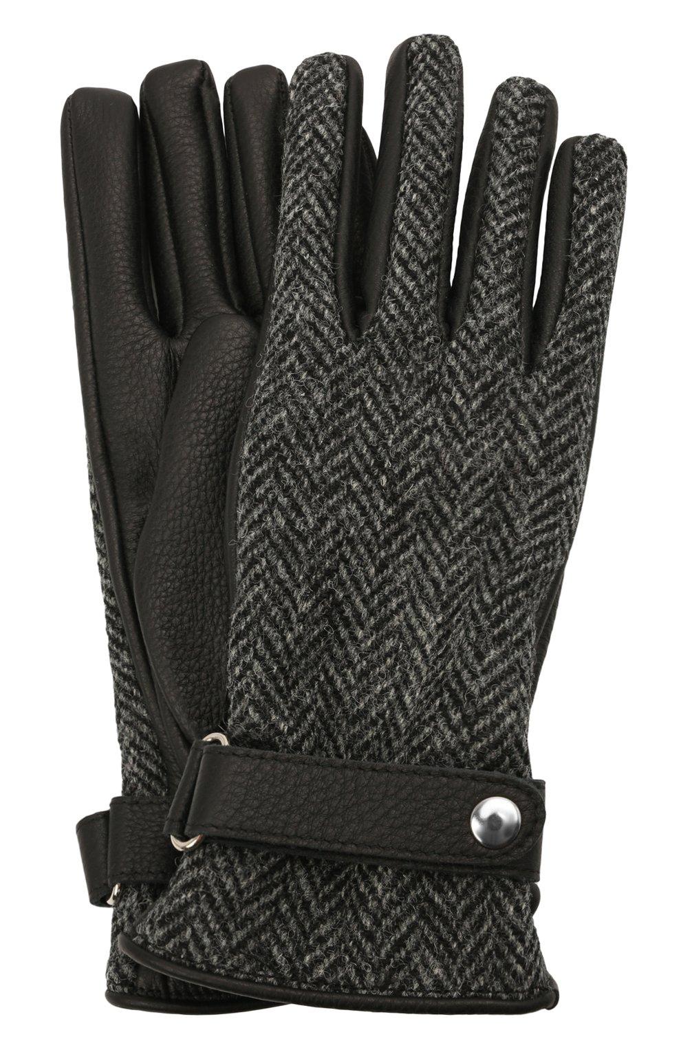 Женские кожаные перчатки MAISON MARGIELA черного цвета, арт. S51TS0051/SY1569 | Фото 1