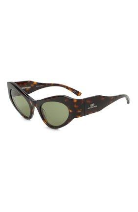 Женские солнцезащитные очки BALENCIAGA коричневого цвета, арт. 664095/T0001 | Фото 1