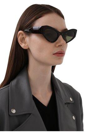 Женские солнцезащитные очки BALENCIAGA коричневого цвета, арт. 664095/T0001 | Фото 2