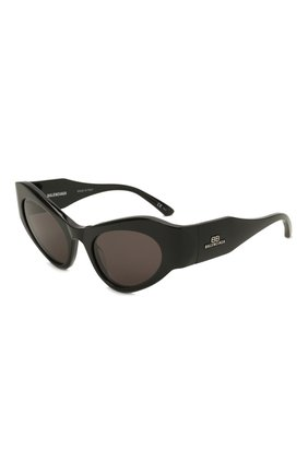 Женские солнцезащитные очки BALENCIAGA черного цвета, арт. 664095/T0001 | Фото 1