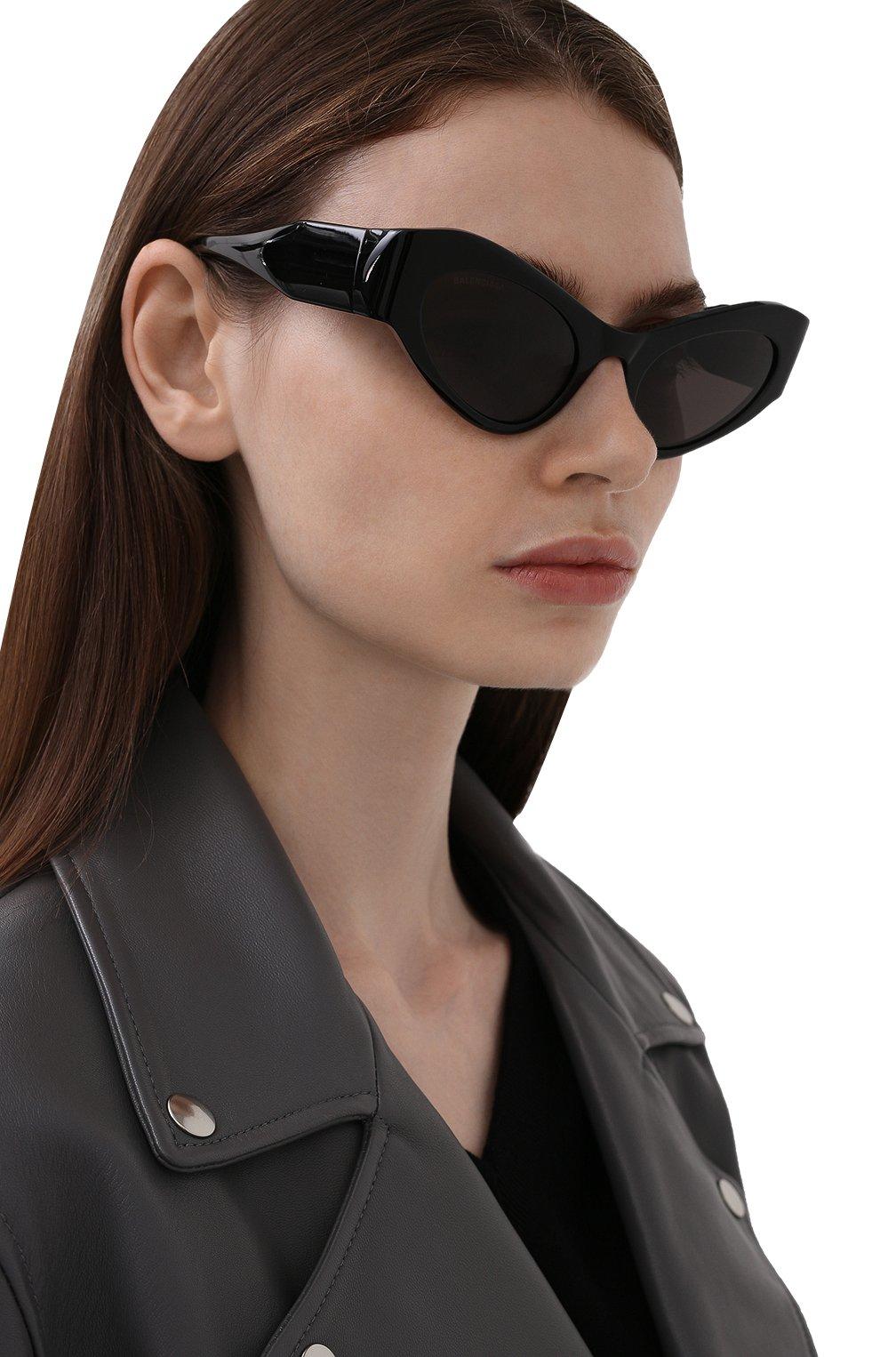 Женские солнцезащитные очки BALENCIAGA черного цвета, арт. 664095/T0001 | Фото 2
