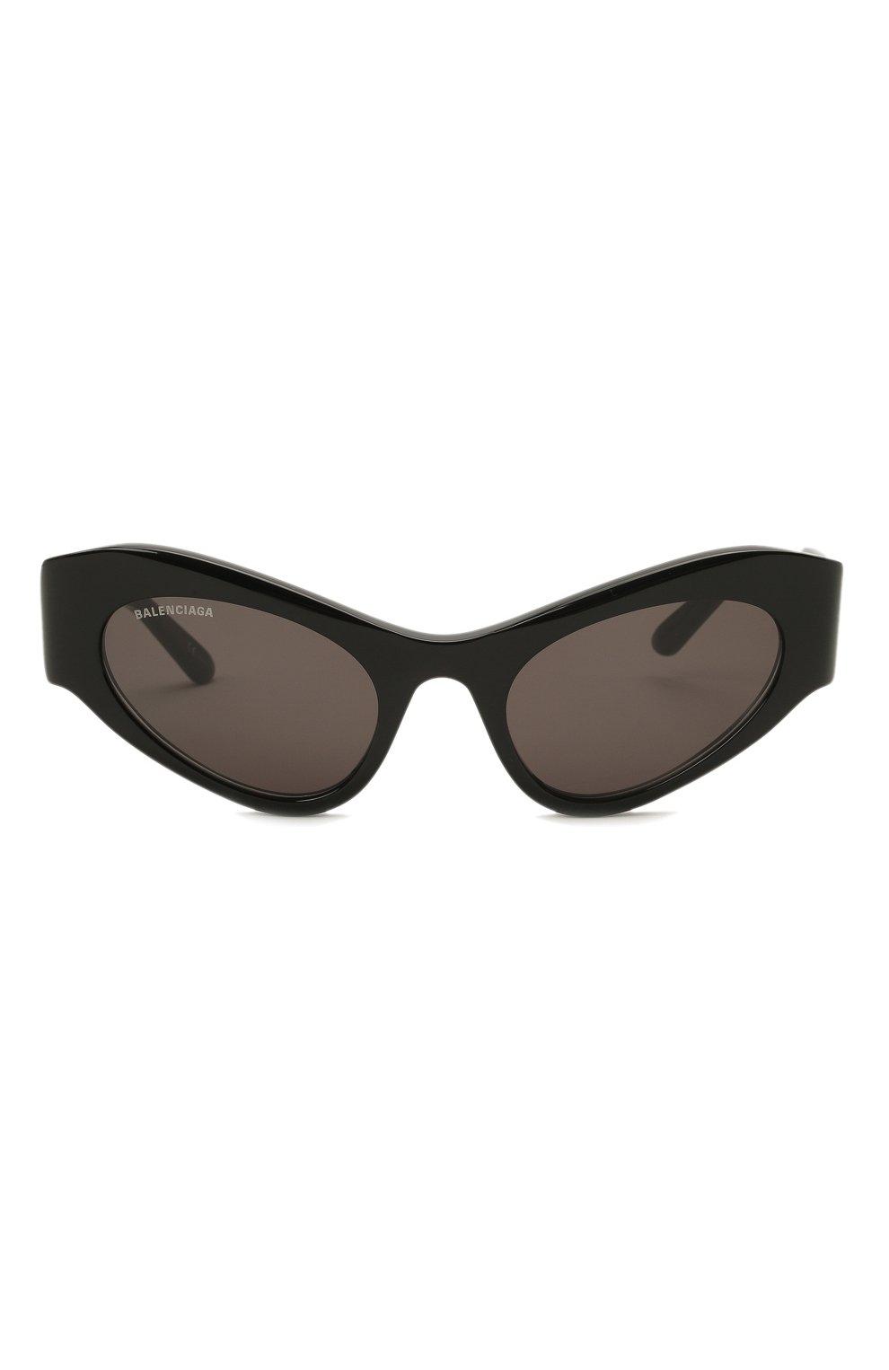 Женские солнцезащитные очки BALENCIAGA черного цвета, арт. 664095/T0001 | Фото 3
