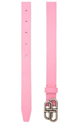 Женский кожаный ремень BALENCIAGA розового цвета, арт. 640450/1801Y | Фото 2