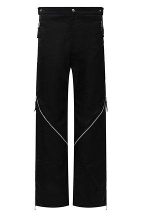 Мужские брюки BOTTEGA VENETA черного цвета, арт. 665720/VKIL0 | Фото 1 (Длина (брюки, джинсы): Стандартные; Случай: Повседневный; Материал внешний: Синтетический материал; Стили: Классический)