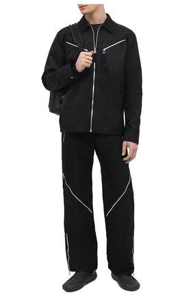 Мужские брюки BOTTEGA VENETA черного цвета, арт. 665720/VKIL0 | Фото 2