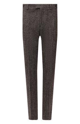 Мужские брюки из шерсти и шелка BOTTEGA VENETA коричневого цвета, арт. 659698/V12N0   Фото 1