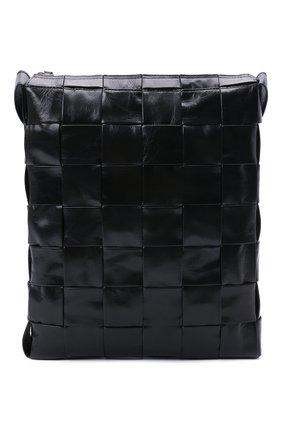 Мужская кожаная сумка cassette BOTTEGA VENETA черного цвета, арт. 651480/VCQ71 | Фото 1