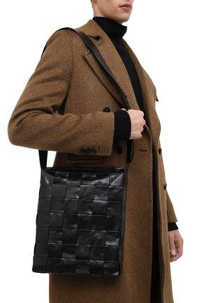 Мужская кожаная сумка cassette BOTTEGA VENETA черного цвета, арт. 651480/VCQ71 | Фото 2