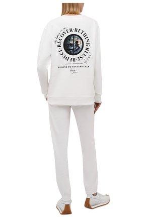 Женский хлопковый свитшот HUGO белого цвета, арт. 50460382 | Фото 2