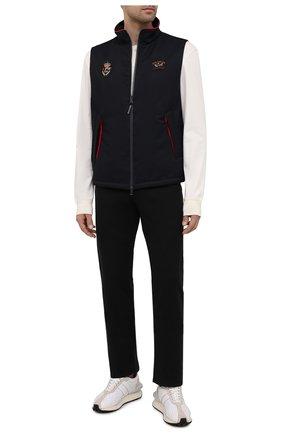 Мужские брюки PAUL&SHARK черного цвета, арт. 11314015/HS1   Фото 2 (Материал внешний: Хлопок; Длина (брюки, джинсы): Стандартные; Случай: Повседневный; Стили: Кэжуэл)