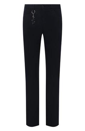 Мужские брюки PAUL&SHARK темно-синего цвета, арт. 11314015/HS1   Фото 1 (Материал внешний: Хлопок; Случай: Повседневный; Стили: Кэжуэл; Длина (брюки, джинсы): Стандартные)