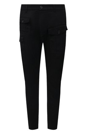 Мужские хлопковые брюки DSQUARED2 черного цвета, арт. S74KB0593/S39021   Фото 1