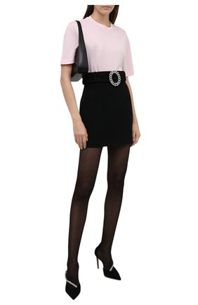 Женская юбка GIUSEPPE DI MORABITO черного цвета, арт. PF21062SK-107 | Фото 2