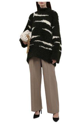 Женский свитер THE ATTICO хаки цвета, арт. 213WCK27/A009 | Фото 2