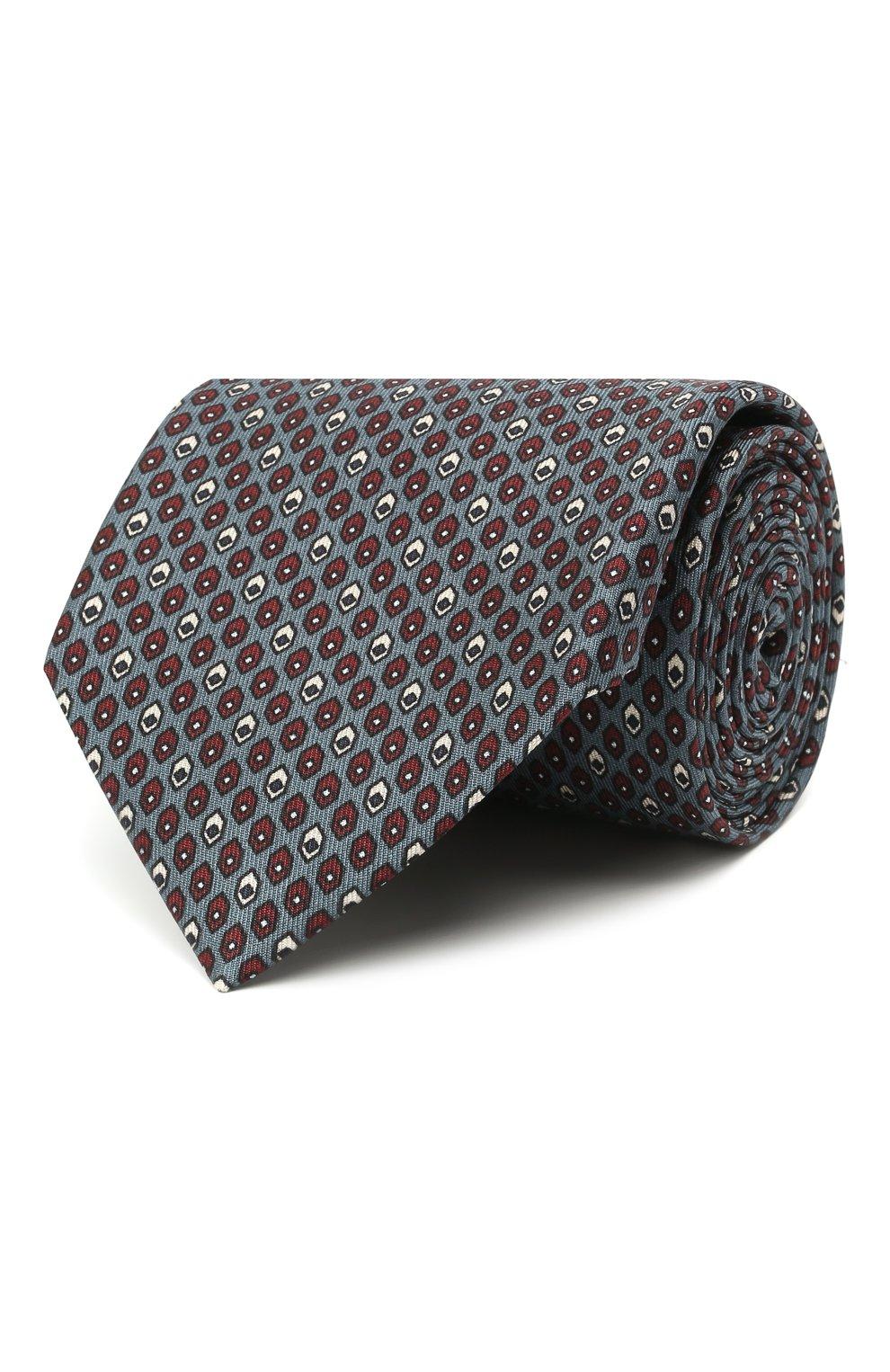 Мужской комплект из галстука и платка BRIONI серо-голубого цвета, арт. 08A900/01486 | Фото 1 (Материал: Текстиль, Шелк)