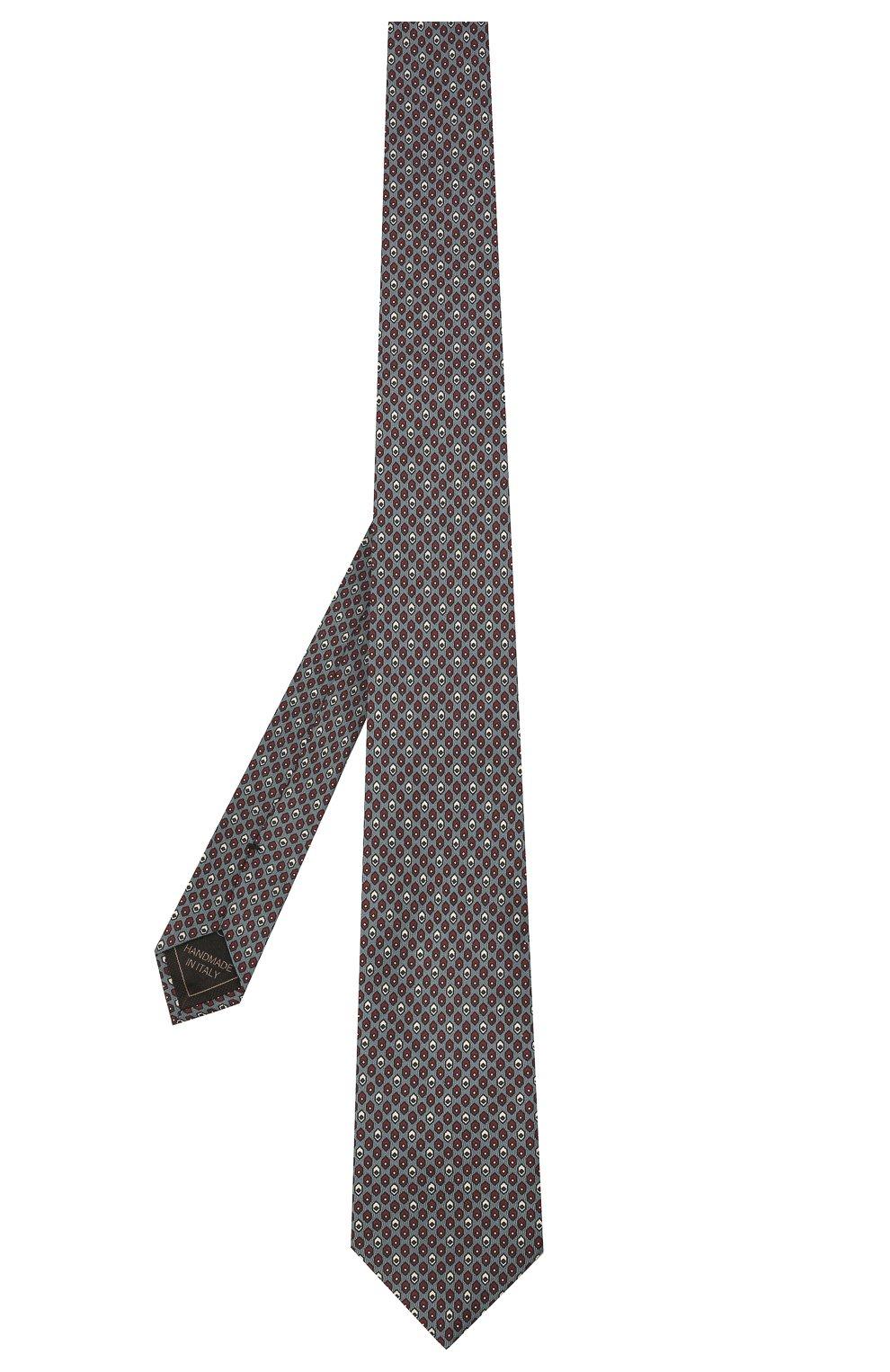 Мужской комплект из галстука и платка BRIONI серо-голубого цвета, арт. 08A900/01486 | Фото 2 (Материал: Текстиль, Шелк)