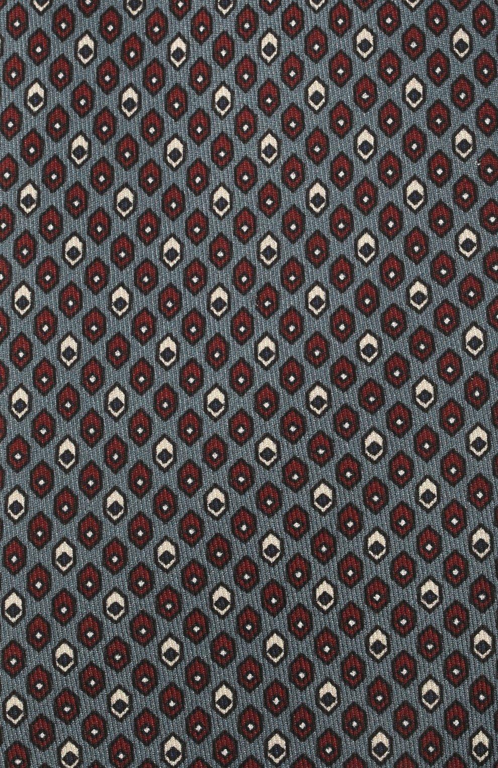 Мужской комплект из галстука и платка BRIONI серо-голубого цвета, арт. 08A900/01486 | Фото 3 (Материал: Текстиль, Шелк)