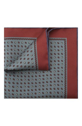 Мужской комплект из галстука и платка BRIONI серо-голубого цвета, арт. 08A900/01486 | Фото 4 (Материал: Текстиль, Шелк)
