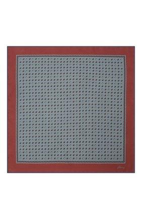 Мужской комплект из галстука и платка BRIONI серо-голубого цвета, арт. 08A900/01486 | Фото 6 (Материал: Текстиль, Шелк)