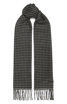 Мужской шарф из шелка и кашемира BRIONI серого цвета, арт. 03IE00/01497   Фото 1