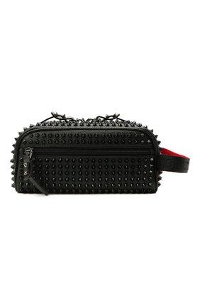 Мужской кожаные несессер blaster CHRISTIAN LOUBOUTIN черного цвета, арт. 1205207/BLASTER SPIKES | Фото 1