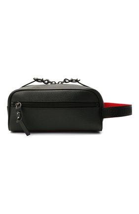 Мужской кожаные несессер blaster CHRISTIAN LOUBOUTIN черного цвета, арт. 1205142/BLASTER | Фото 1