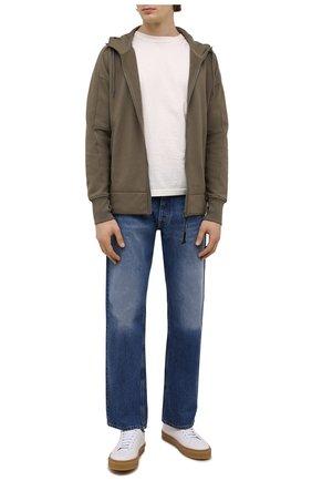 Мужской хлопковая толстовка C.P. COMPANY хаки цвета, арт. 11CMSS060A-005086W | Фото 2 (Рукава: Длинные; Длина (для топов): Стандартные; Материал внешний: Хлопок; Мужское Кросс-КТ: Толстовка-одежда; Стили: Милитари)
