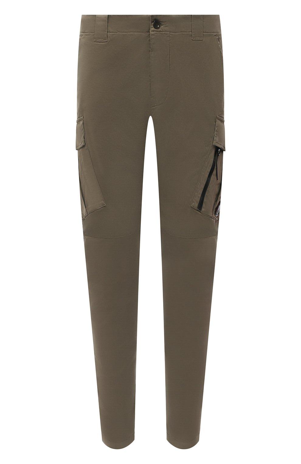 Мужские хлопковые брюки-карго C.P. COMPANY хаки цвета, арт. 11CMPA226A-005529G | Фото 1 (Силуэт М (брюки): Карго; Длина (брюки, джинсы): Стандартные; Случай: Повседневный; Стили: Милитари; Материал внешний: Хлопок)