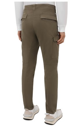 Мужские хлопковые брюки-карго C.P. COMPANY хаки цвета, арт. 11CMPA226A-005529G | Фото 4 (Силуэт М (брюки): Карго; Длина (брюки, джинсы): Стандартные; Случай: Повседневный; Стили: Милитари; Материал внешний: Хлопок)