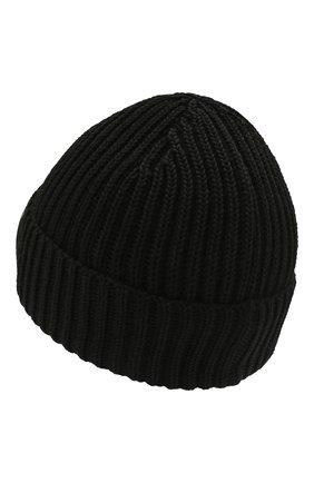 Мужская шерстяная шапка C.P. COMPANY черного цвета, арт. 11CMAC122A-005509A | Фото 2